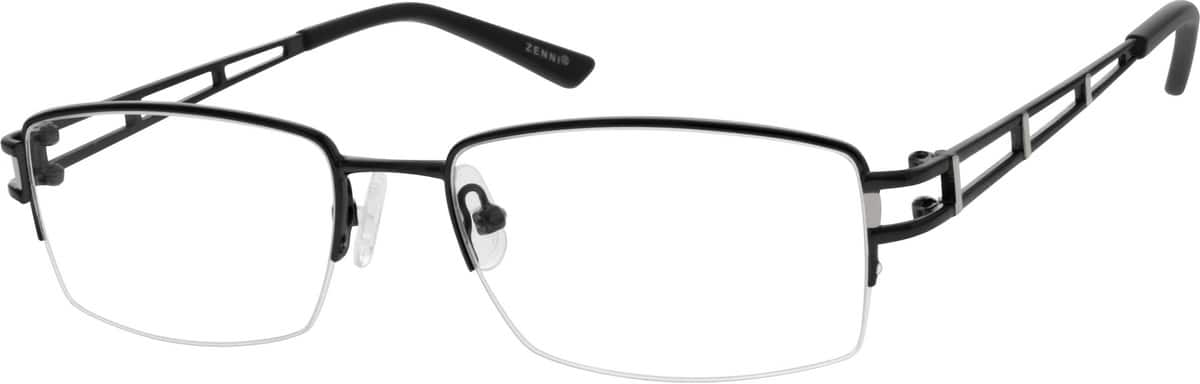 MenHalf RimMetalEyeglasses #152321