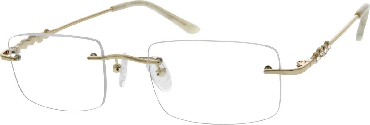 WomenRimlessMetalEyeglasses #153818