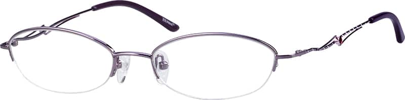 Women Half Rim Metal Eyeglasses #154217