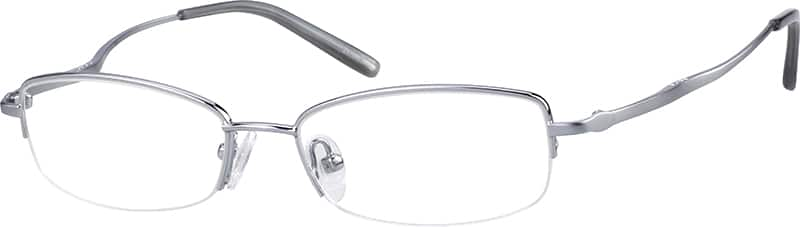 Women Half Rim Metal Eyeglasses #155111