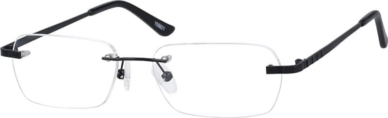 Zenni Optical Mens Rimless Glasses : Black Rimless Metal Alloy Frame #1556 Zenni Optical ...