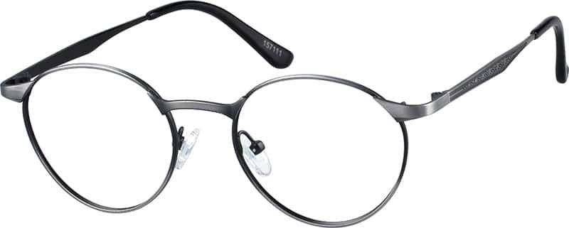 Zenni Silver Round Eyeglasses
