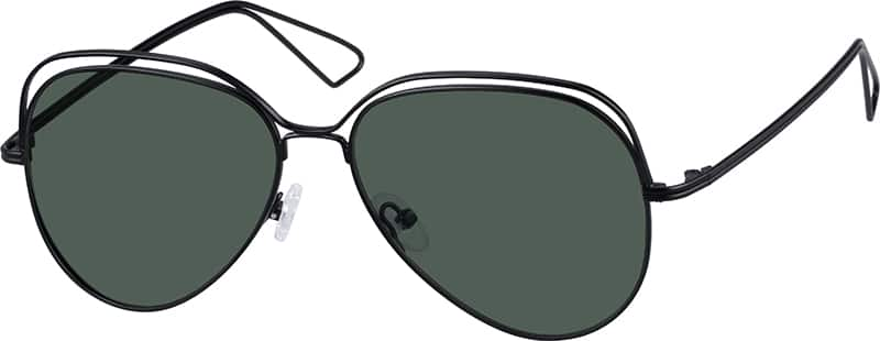 Zenni Optical Aviator Glasses : Black Premium Aviator Sunglasses #1572 Zenni Optical ...