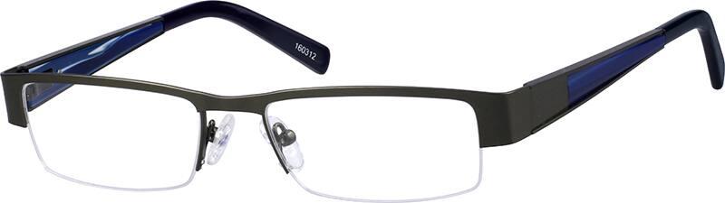 MenHalf RimStainless SteelEyeglasses #160312