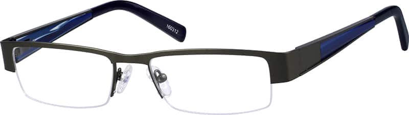 mens-half-rim-stainless steel-rectangle-eyeglass-frames-160312