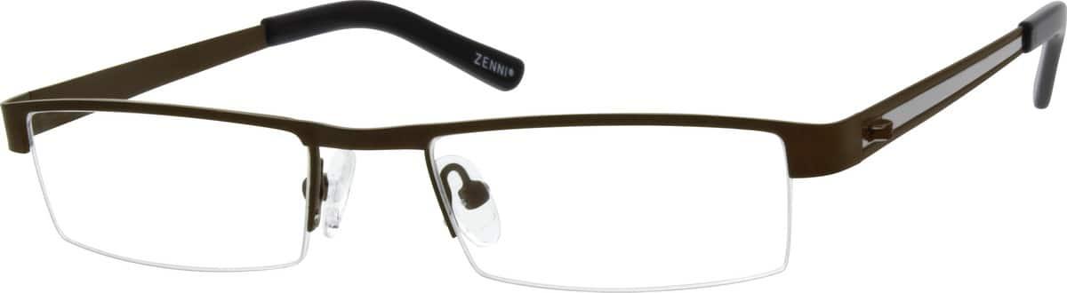 MenHalf RimStainless SteelEyeglasses #160412