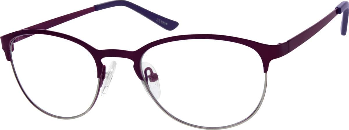 Women Full Rim Stainless Steel Eyeglasses #161318