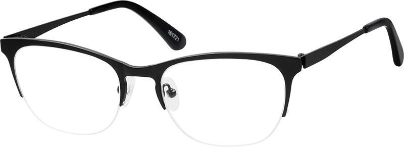 Browline Glasses Zenni Optical : Black Browline Eyeglasses #1617 Zenni Optical Eyeglasses
