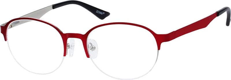 Women Half Rim Stainless Steel Eyeglasses #161918