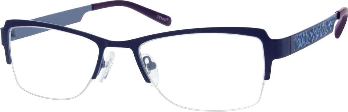 WomenHalf RimStainless SteelEyeglasses #162121