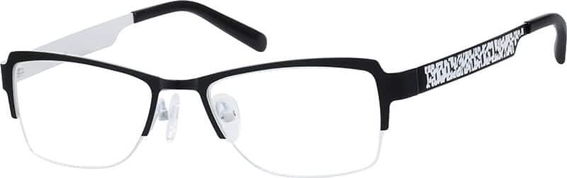 womens-half-rim-stainless steel-rectangle-eyeglass-frames-162121