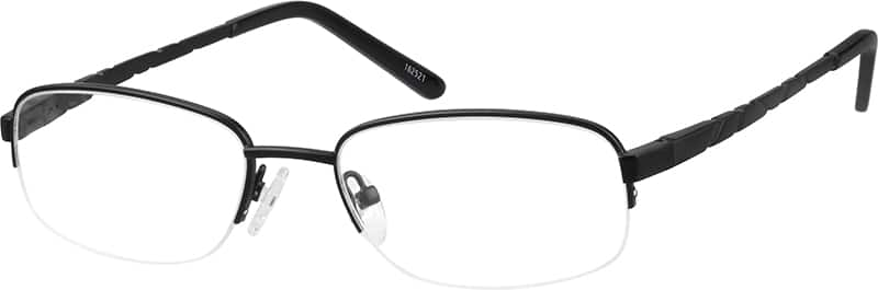 mens-half-rim-stainless steel-rectangle-eyeglass-frames-162521