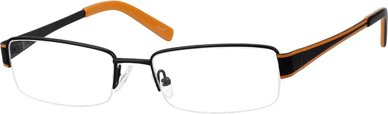 Men Half Rim Stainless Steel Eyeglasses #162721