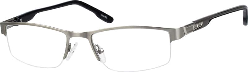 MenHalf RimStainless SteelEyeglasses #163112