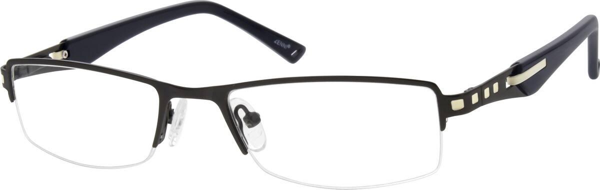 MenHalf RimStainless SteelEyeglasses #163315