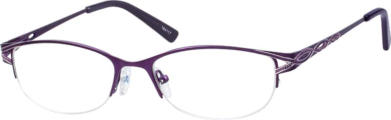 womens-half-rim-stainless steel-oval-eyeglass-frames-164117