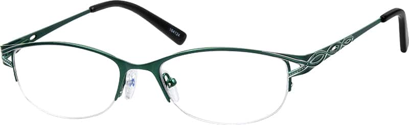Women Half Rim Stainless Steel Eyeglasses #164117