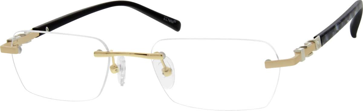 Rimless Distance Glasses : Gold Rimless Eyeglasses #1647 Zenni Optical Eyeglasses