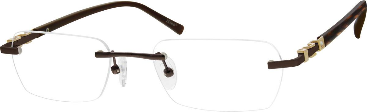 Unisex Rimless Stainless Steel Eyeglasses #164714