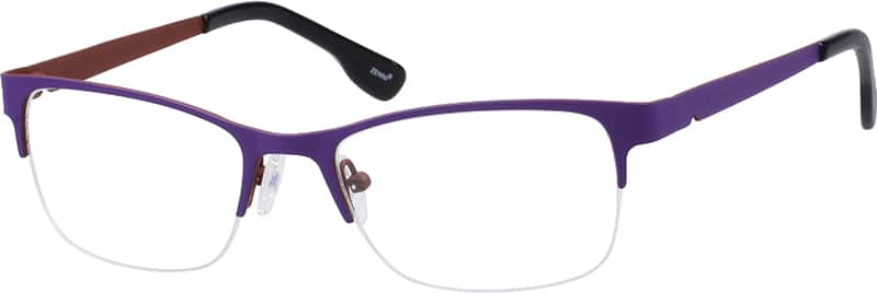 Women Half Rim Stainless Steel Eyeglasses #165017