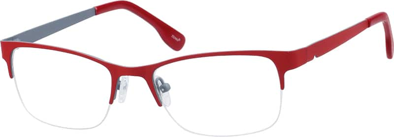 womens-half-rim-stainless steel-rectangle-eyeglass-frames-165018