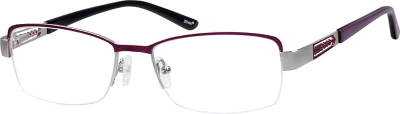 womens-half-rim-stainless-steel-rectangle-eyeglass-frames-166017
