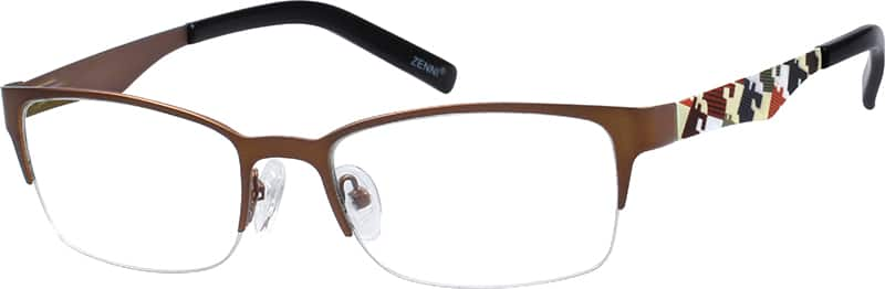 unisex-half-rim-stainless steel-rectangle-eyeglass-frames-166115