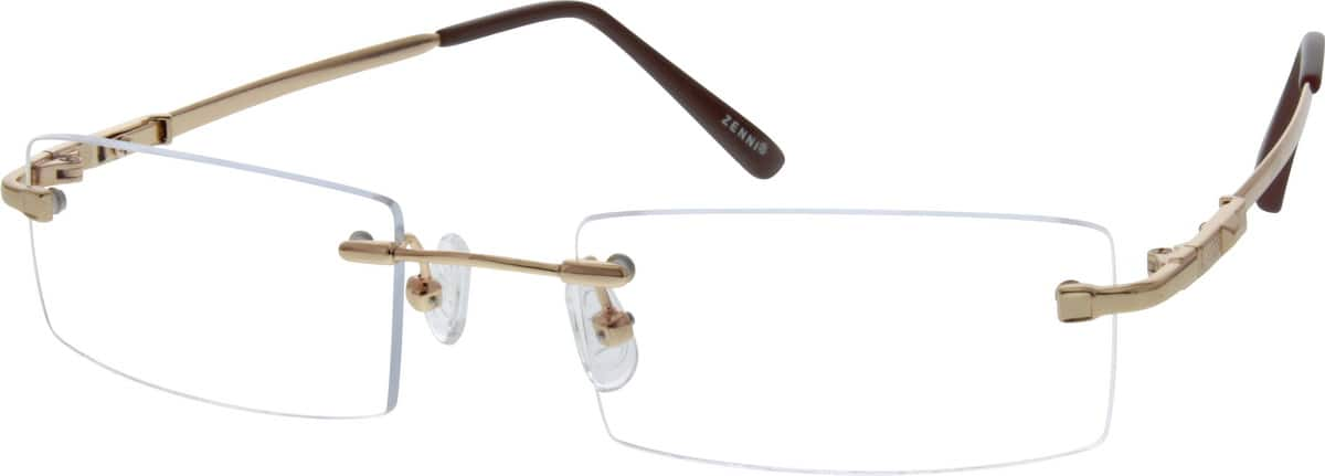 MenRimlessMemory TitaniumEyeglasses #170412