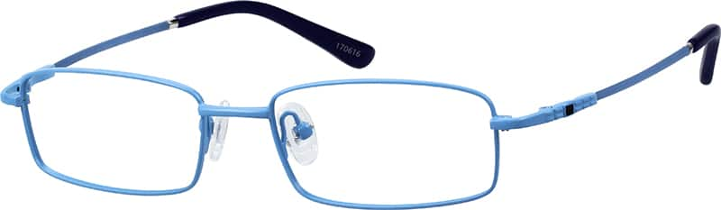 Children's Stainless Steel Full-Rim Frame with Memory Titanium Temples