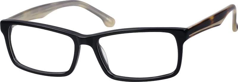 Zenni Optical Work Glasses : Black Rectangle Eyeglasses #1819 Zenni Optical Eyeglasses