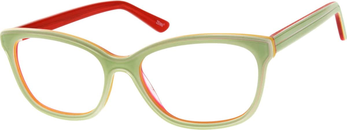 Green Acetate Full-Rim Frame #1844 Zenni Optical Eyeglasses