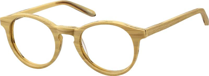 Acetate Eyeglasses Frame : Wood Texture Acetate Full-Rim Frame #1898 Zenni Optical ...