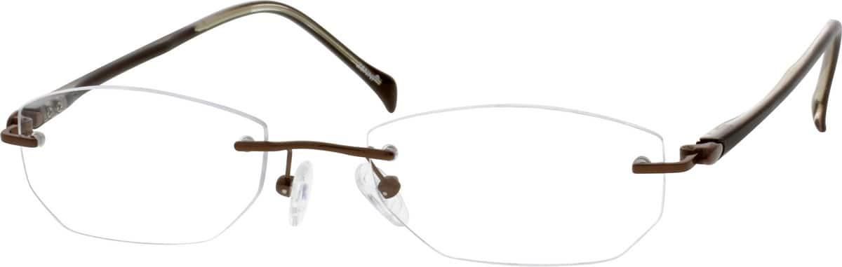 Zenni Optical Mens Rimless Glasses : Silver Rimless Titanium Frame With Plastic Temples #1903 ...