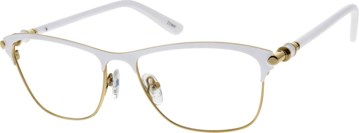 Stainless Steel Full-Rim Frame With Spring Hinges and Acetate Temples