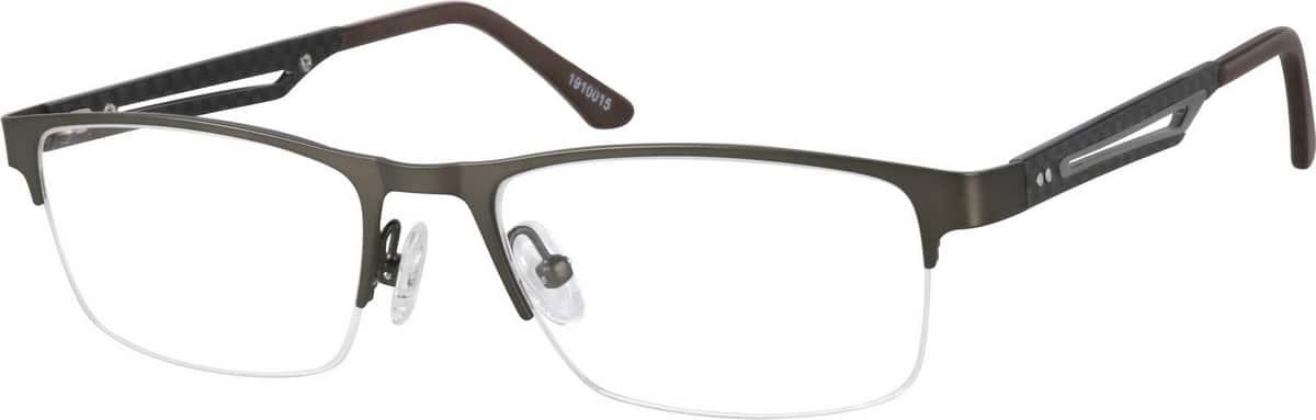 MenHalf RimMixed MaterialsEyeglasses #1910015