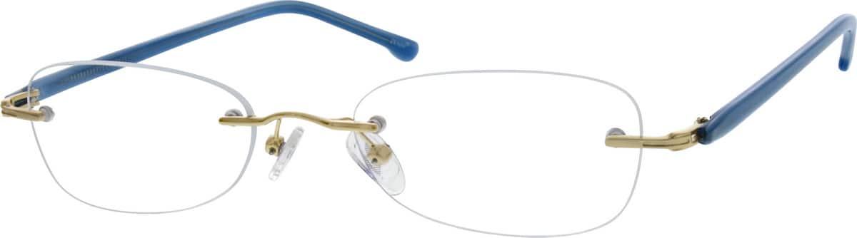 WomenRimlessMixed MaterialsEyeglasses #191417