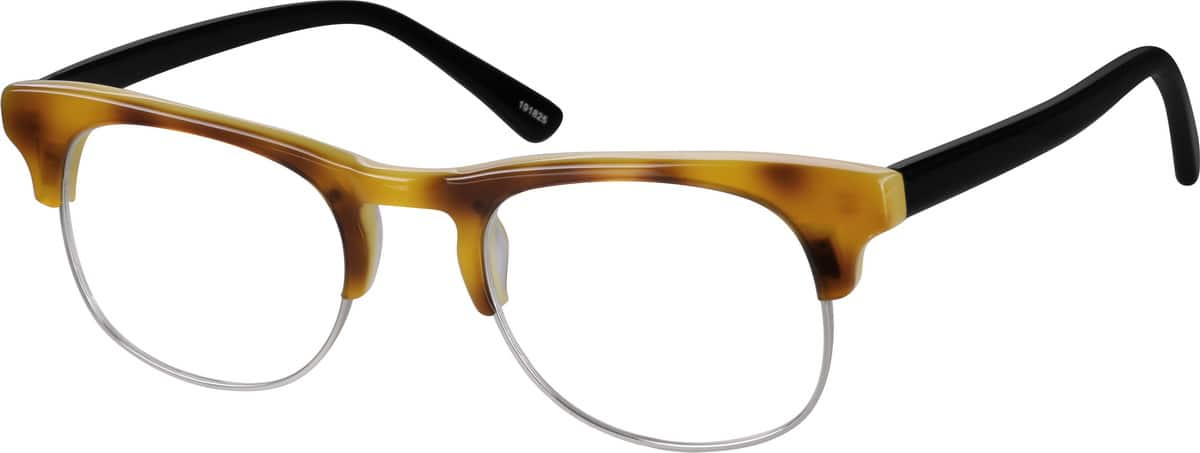 unisex-fullrim-mixed materials-round-eyeglass-frames-191825