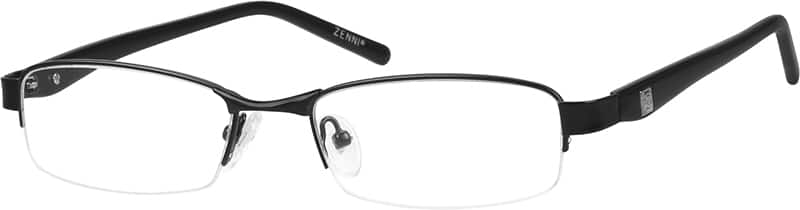 Men Half Rim Mixed Materials Eyeglasses #192121