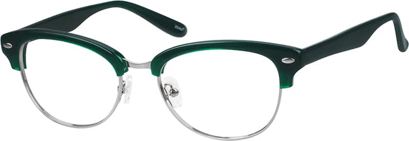 Metal Alloy Full-Rim Frame With Acetate Temples