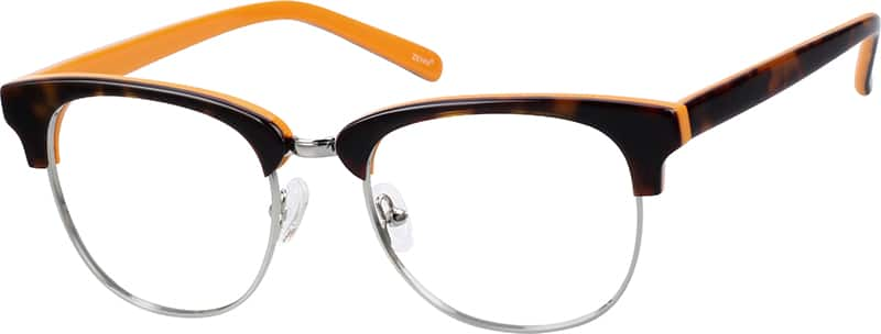 Acetate and Metal Alloy Full-Rim Frame with Acetate Temples