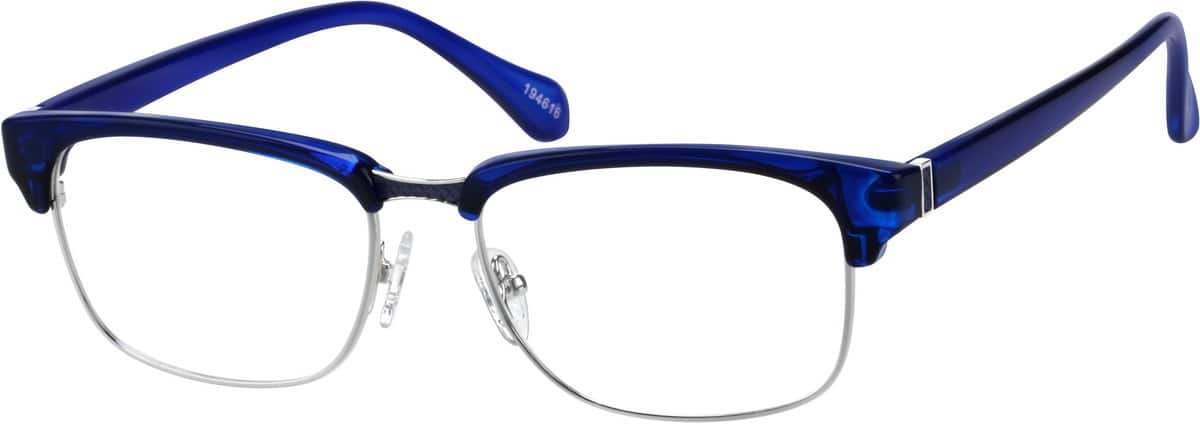 Midnight Blue Browline Eyeglasses