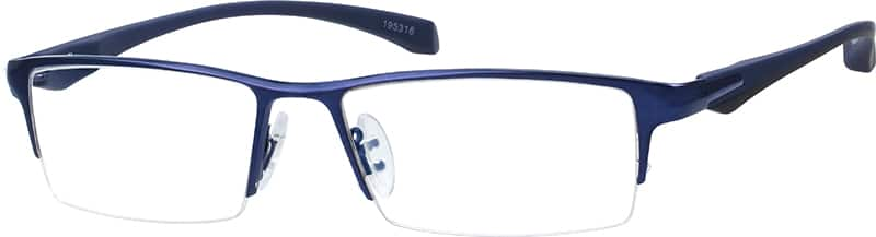 Contemporary Half-Rim Eyeglasses