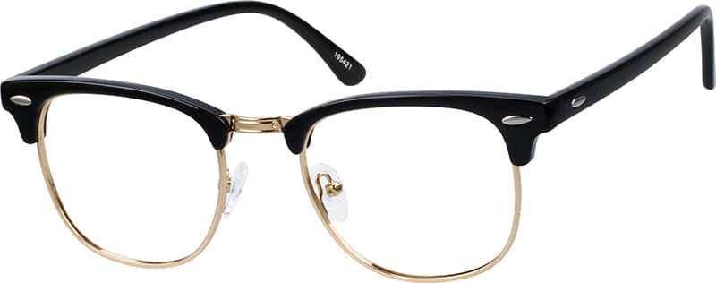eyeglasses  Black Browline Eyeglasses #1954