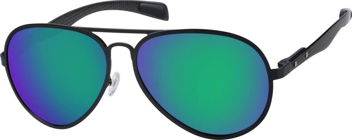 Black Premium Aviator Sunglasses 1970 Zenni Optical