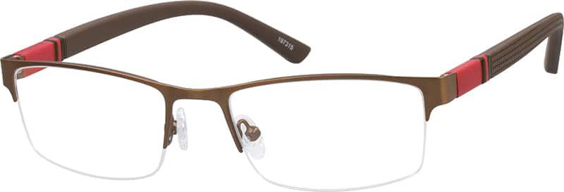 UnisexHalf RimMixed MaterialsEyeglasses #197315
