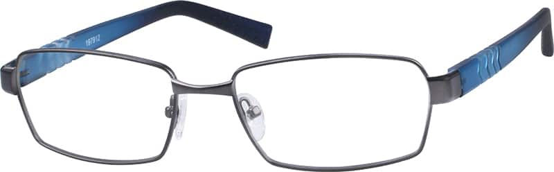 Men Full Rim Mixed Materials Eyeglasses #197915