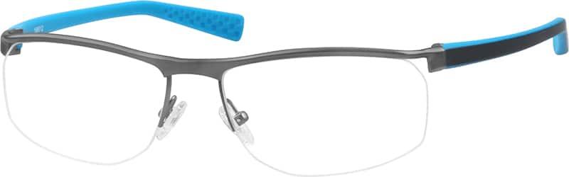 MenHalf RimMixed MaterialsEyeglasses #198012