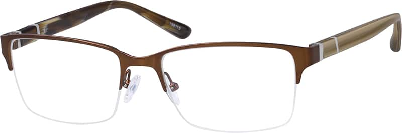 UnisexHalf RimMixed MaterialsEyeglasses #198115