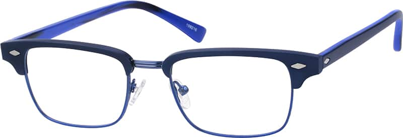 Unisex Full Rim Mixed Materials Eyeglasses #199215