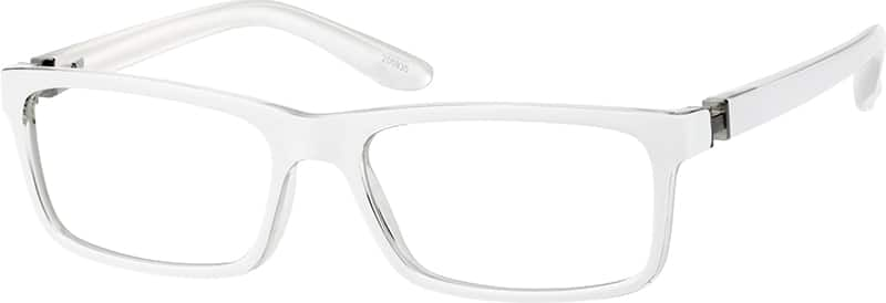 White Chic Rectangular Eyeglasses #2009 Zenni Optical ...